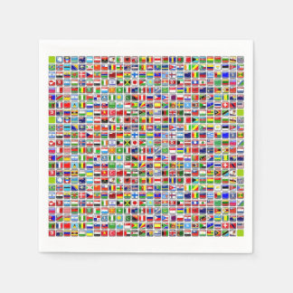Flags of the World Disposable Napkin