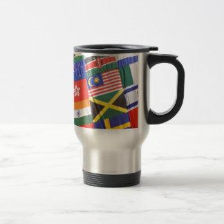Flags of the world travel mug