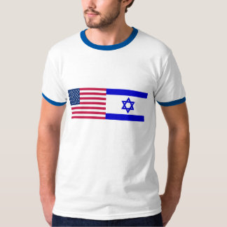 Flags of USA and Israel T-Shirt