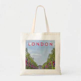 Flags on the Mall, London tote bag