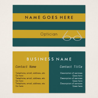 """Flags"" Optician Business Cards"