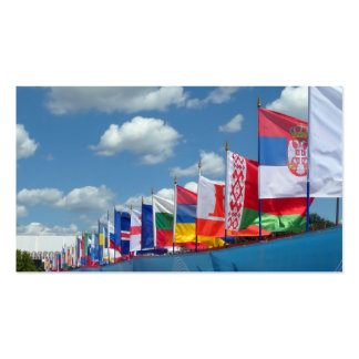 flags pack of standard business cards