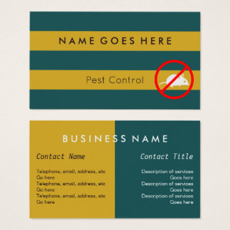 """""""Flags"""" Pest Control Business Cards"""