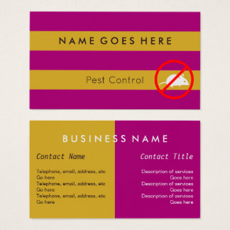 """Flags"" Pest Control Business Cards"