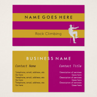 """Flags"" Rock Climbing Business Cards"