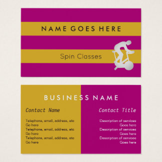 """Flags"" Spin Classes Business Cards"