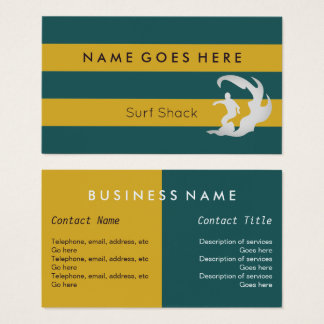 """Flags"" Surfing Business Cards"