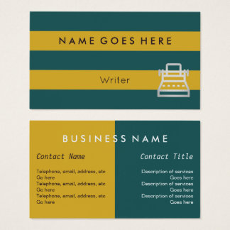 """""""Flags"""" Writer Business Cards"""