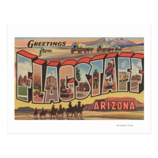 Flagstaff, Arizona - Large Letter Scenes Postcard
