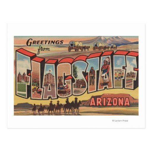 Flagstaff, Arizona - Large Letter Scenes Post Cards