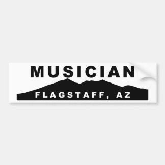 Flagstaff Arizona Musician Bumper Sticker