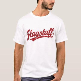 Flagstaff script logo in red T-Shirt