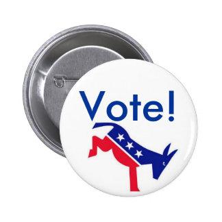 Flair Pin : Vote! Democrat