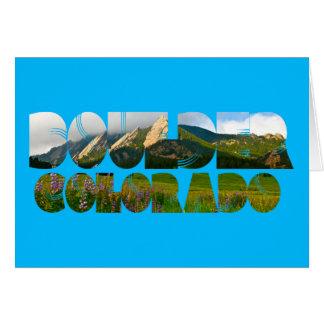 Flairons, Boulder Colorado Card