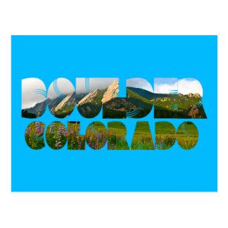 Flairons, Boulder Colorado Postcard
