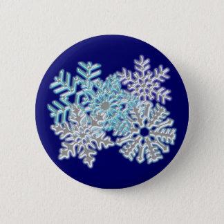 Flakes snow flakes 6 cm round badge