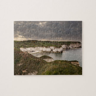 Flamborough Head and Selwicks Bay souvenir photo Jigsaw Puzzle