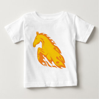 Flamboyant Fired Flame Horse Baby T-Shirt