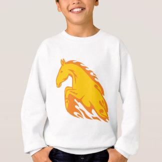 Flamboyant Fired Flame Horse Sweatshirt