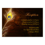 Flamboyant Peacock Feather Reception Enclosure Pack Of Chubby Business Cards