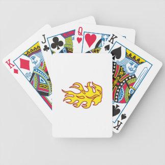 Flame Applique Poker Deck