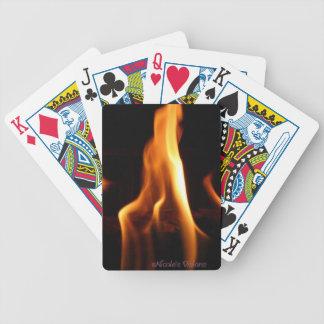 Flame card deck poker deck