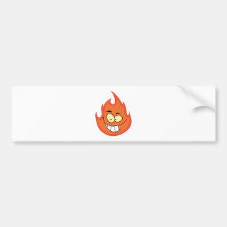 Flame Cartoon Character Bumper Sticker