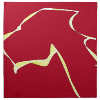 Flame dog art red napkin