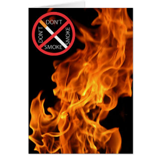 Flame, Don't smoke red sign Card