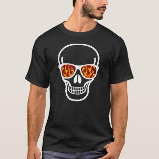 Flame-eyed Geek Skull Shirt