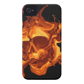 Flame fire skull iPhone 4 Case-Mate cases