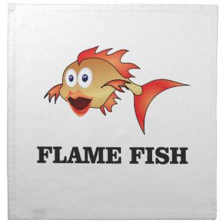 flame fish napkin