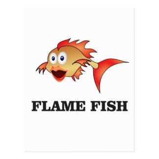 flame fish postcard