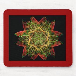 Flame Fractal Art Mouse Pad