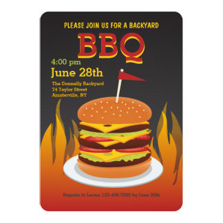 Flame Grilled Burger Invitation