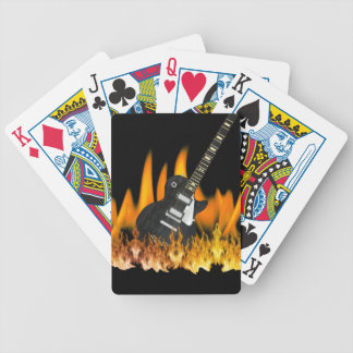 Flame Guitar Music Playing Cards