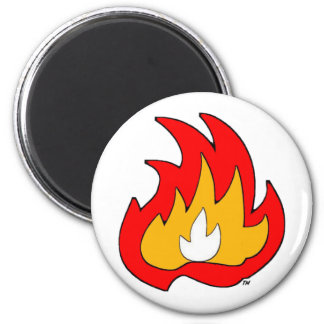 Flame Gurl Flame 6 Cm Round Magnet