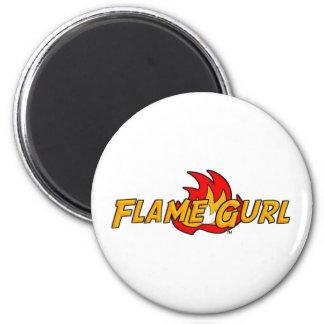 Flame Gurl Logo 6 Cm Round Magnet