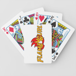 Flame Gurl Logo Bicycle Playing Cards