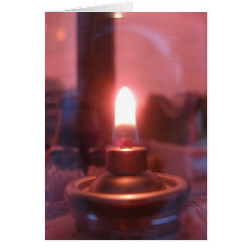Flame Inside of a Glass Jar Greeting Cards