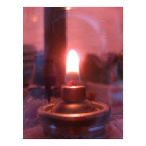 Flame Inside of a Glass Jar Postcards