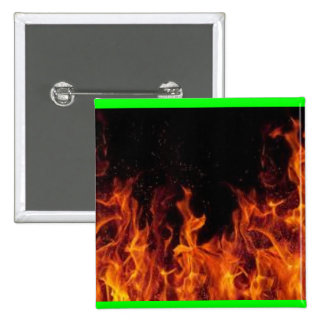 Flame It Up 15 Cm Square Badge