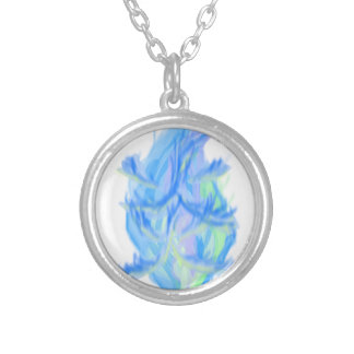 flame [japanese] silver plated necklace