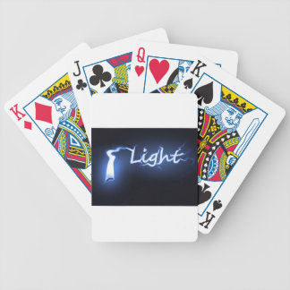 Flame light concept. bicycle playing cards