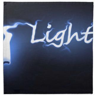 Flame light concept. napkin