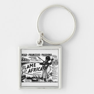 Flame of Africa Silver-Colored Square Key Ring