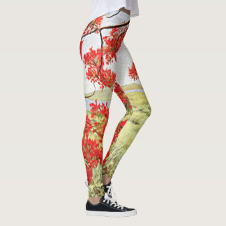 Flame-of-the-forest Leggings