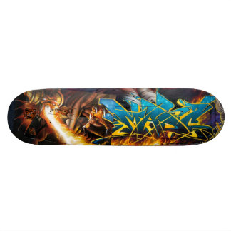 Flame On! in Durin's Dungeon - Street Art Sk8 Deck Skateboard Deck