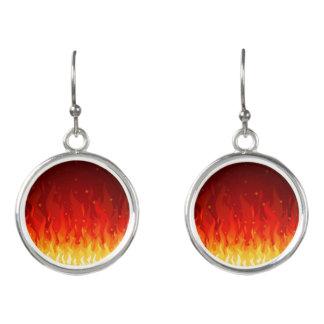 Flame Pendant Earrings