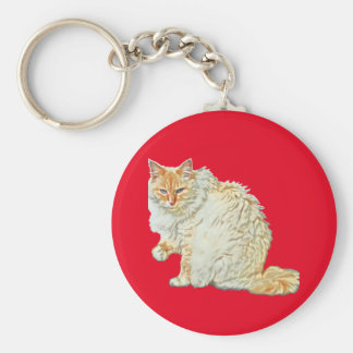 Flame point siamese cat 2 key ring